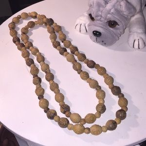 """Jewelry - 42"""" hand carved wooden necklace from Italy"""
